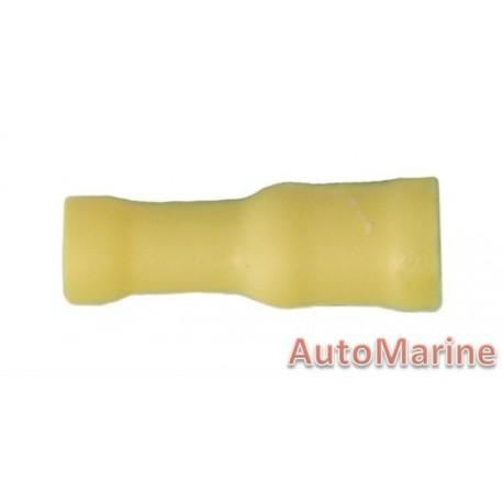 Yellow Female Bullet Connector - 100 Pieces