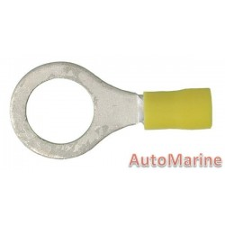 Yellow Ring Terminal - 12mm - 100 Pieces