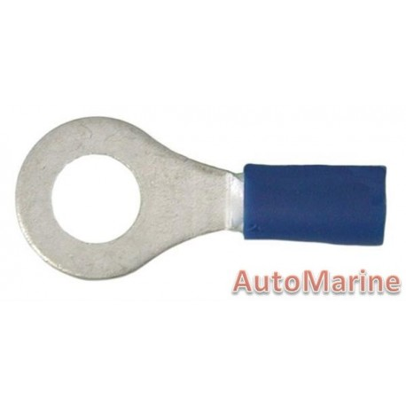 Blue Ring Terminal 6.4mm - 10 Pieces