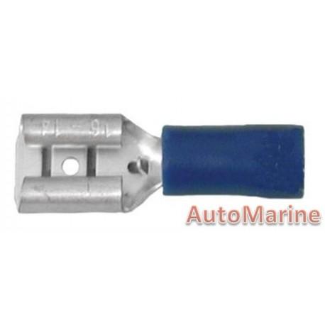 Blue Female Terminal - 6.3mm  - 10 Pieces