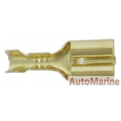 Brass Female Socket Terminal - 6.3mm - 100 Pieces
