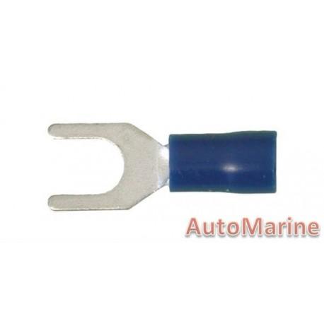 Blue Fork Terminal - 5.3mm - 10 Pieces