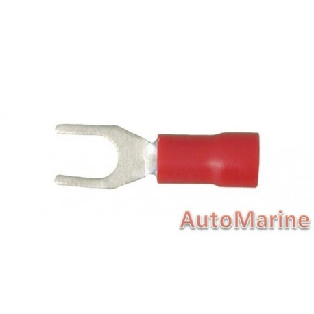Red Fork Terminal - 4.3mm - 10 Pieces