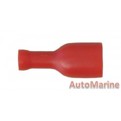 Red Insulated Female  Terminal - 6.3mm - 10 Pieces