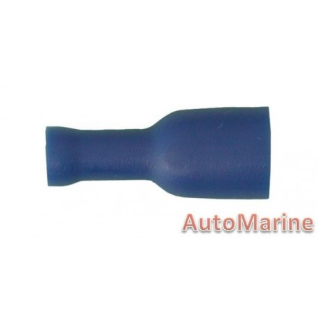 Blue Insulated Female  Terminal - 6.3mm - 10 Pieces