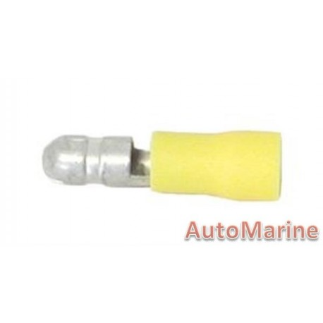 Yellow Male Bullet  Terminal - 100 Pieces