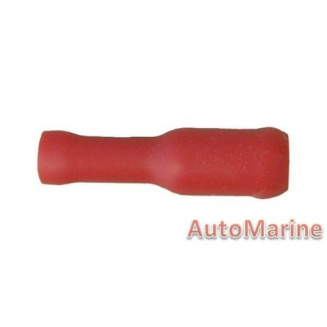 Red Female Bullet Terminal - 10 Pieces