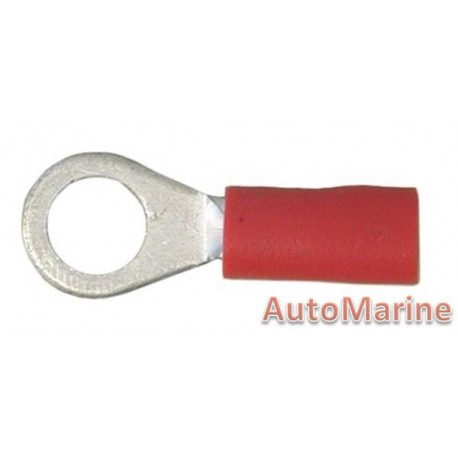 Red Ring Terminal - 5.3mm - 10 Pieces