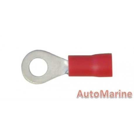 Red Ring Terminal - 4.3mm - 10 Pieces