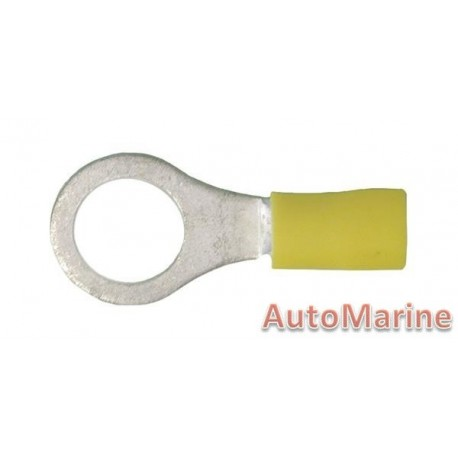 Yellow Ring Terminal - 10.5mm - 10 Pieces