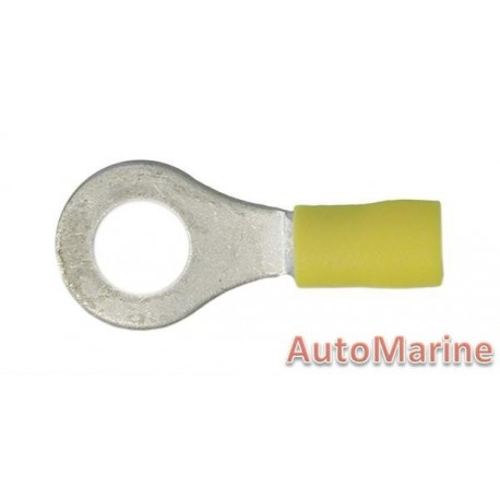 Yellow Ring Terminal - 8.4mm - 10 Pieces