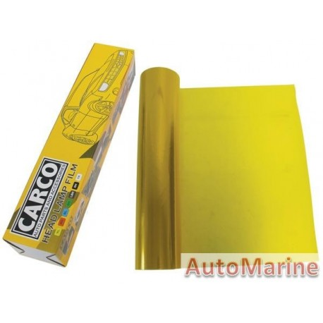 Headlamp Film - Yellow - 40cm x 1m
