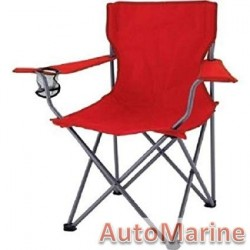 Camping Chair - Heavy Duty - Red