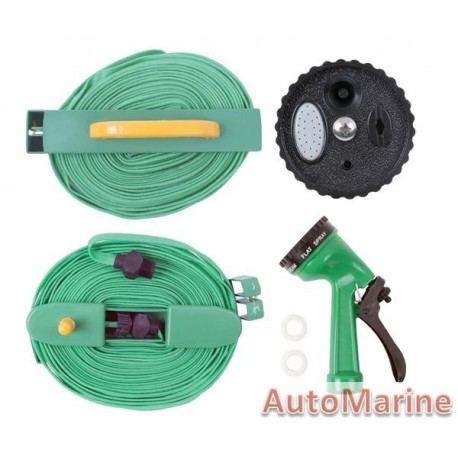 Flat Garden Hose with Fittings