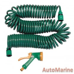 Coil Type Garden Hose with Fittings (15 Meter)