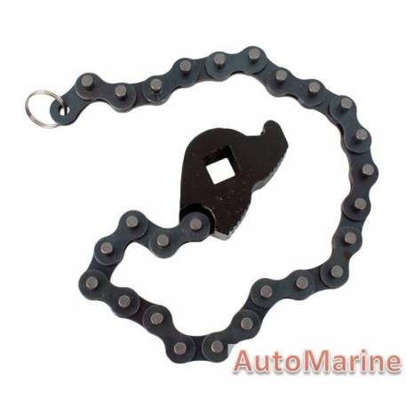 """Oil Filter Remover Chain Socket 1/2"""" Drive"""