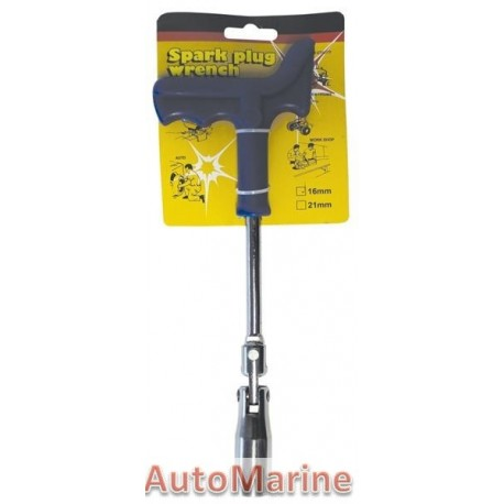 Plug Spanner 16mm with Plastic Handle