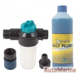Outboard Engine Flusher Kit with 500ml Salt FLush