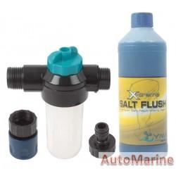 Outboard Engine Flusher Kit with 500ml Salt FLush