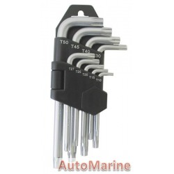 9 Piece Offset Torx Key Set