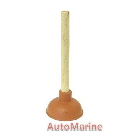 Drain Plunger 4 inch Brown