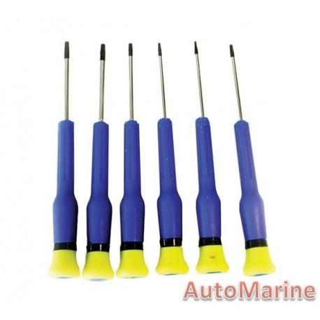 6 Piece Precision Torx Screwdriver Set