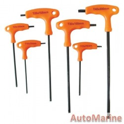 6 Piece T Handle Torx Set