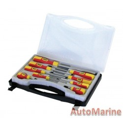 9 Piece Screwdriver Set in Plastic Case