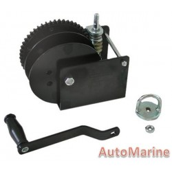 3000LB Hand Winch with Worm Gear and Split Barrel