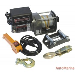 Runva Electric Winch - 12 Volt - 2000lb (907 kg) - With Solenoid Pack