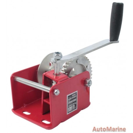 2000LB Hand Winch with Worm Gear and Brake