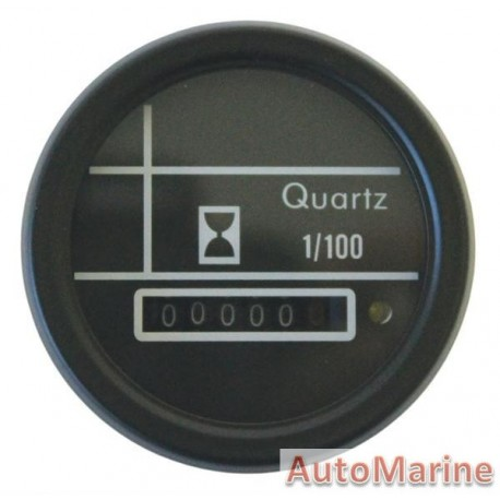 Analogue Hour Meter - 52mm - Black