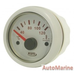 Water Temperature Gauge - 52mm - White