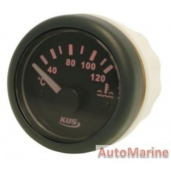 Water Temperature Gauge - 52mm - Black