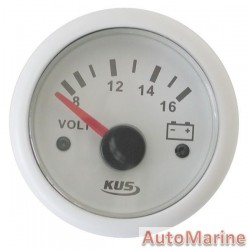 Volt Gauge - 24V - 52mm - White