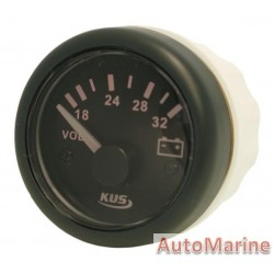 Volt Gauge - 24V - 52mm - Black