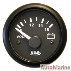 Volt Gauge - 12V - 52mm - Black