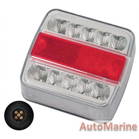 Universal LED Trailer Lamp - 12 Volt with Plug Ends