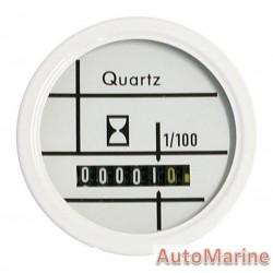 Hour Meter - Waterproof - 52mm - White