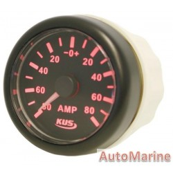 Amp Meter with Amp Sensor - 52mm Black