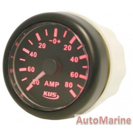 Amp Meter with Amp Sensor - 52mm Black