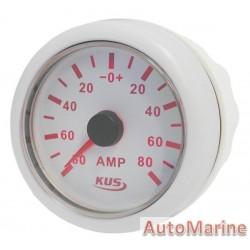 Amp Meter with Amp Sensor - 52mm White