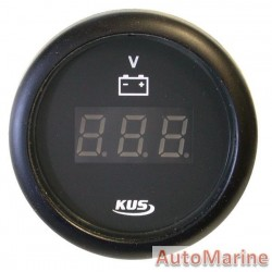 Digital Volt Gauge - 8-32V - 52mm - Black