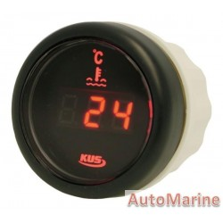 Digital Water Temperature Gauge - 52mm - Black