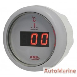 Digital Water Temperature Gauge - 52mm - White