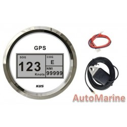GPS Digital Speedometer with Compass - White