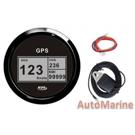 GPS Digital Speedometer with Compass - Black