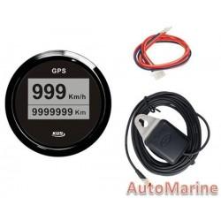 GPS Digital Speedometer with Antenna - 52mm - Black