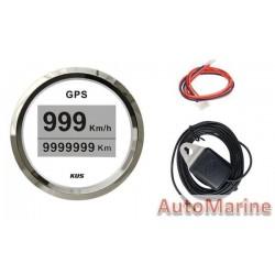 GPS Digital Speedometer with Antanne - 52mm - White