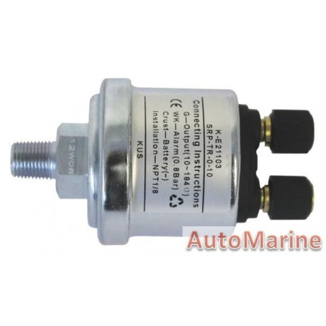 Oil Pressure Sensor with Alarm - 10 Bar